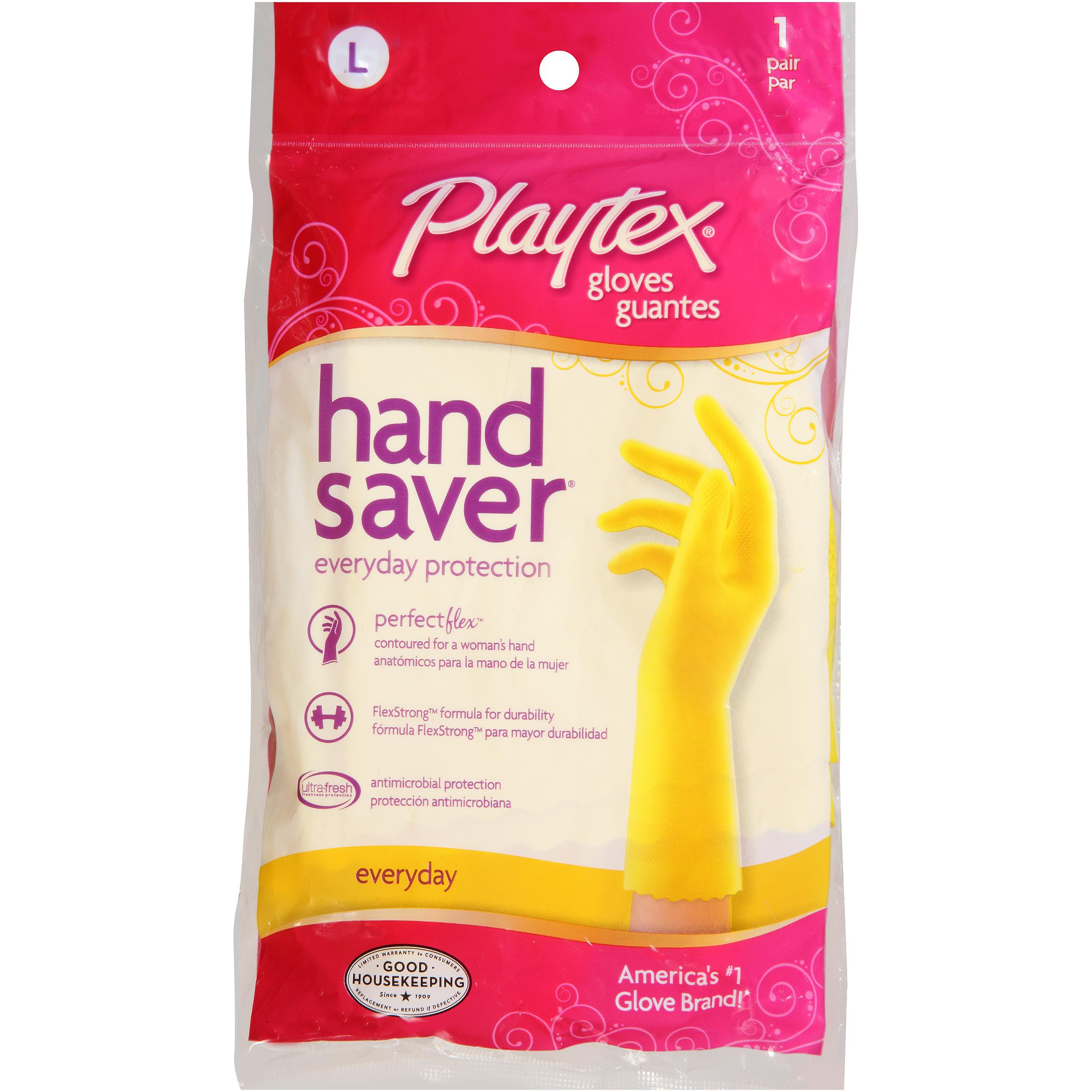 Playtex Handsaver Reusable Gloves Large - 1 Pair