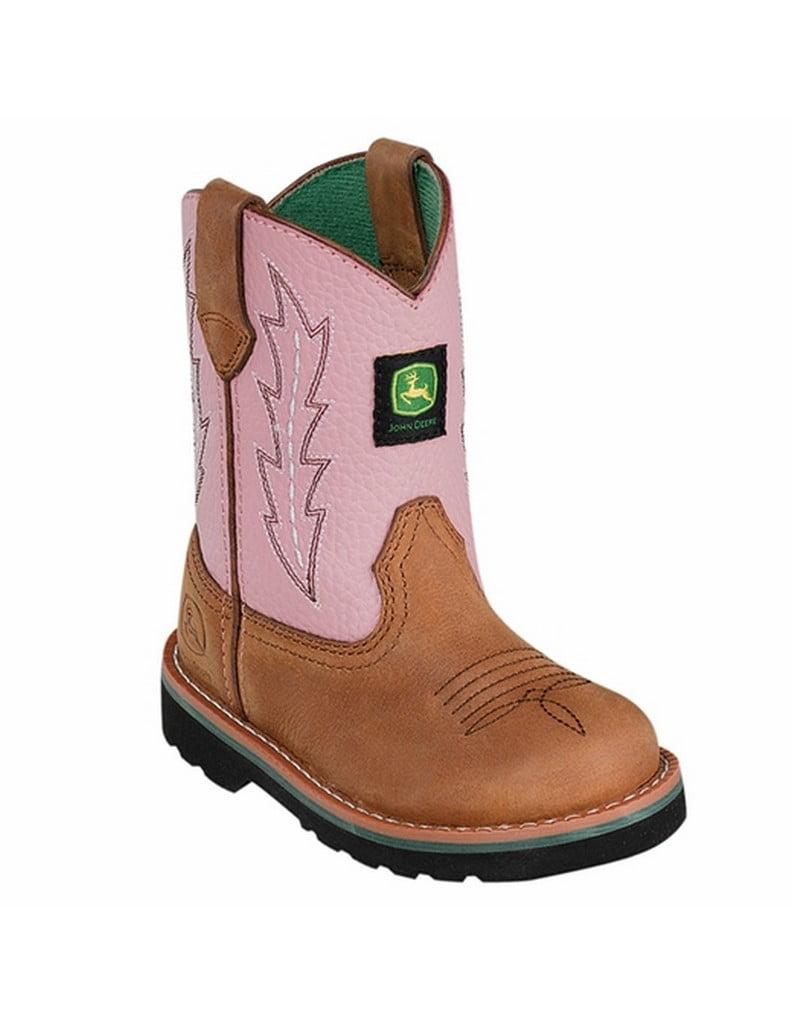 Infant Girls' John Deere Boots Leather Wellington 1185 by John Deere