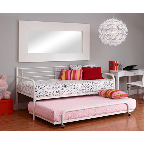 metal daybed with trundle, white - walmart