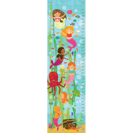 Oopsy Daisy - Mermaid Mingle and Play Growth Chart 12x42, Liza Lewis