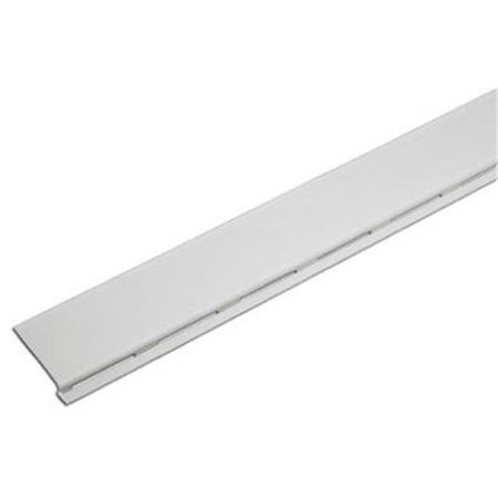 Gutter Cover, Fits Standard 4, 5 & 6-In. Metal Gutter, White PVC, 4-Ft.