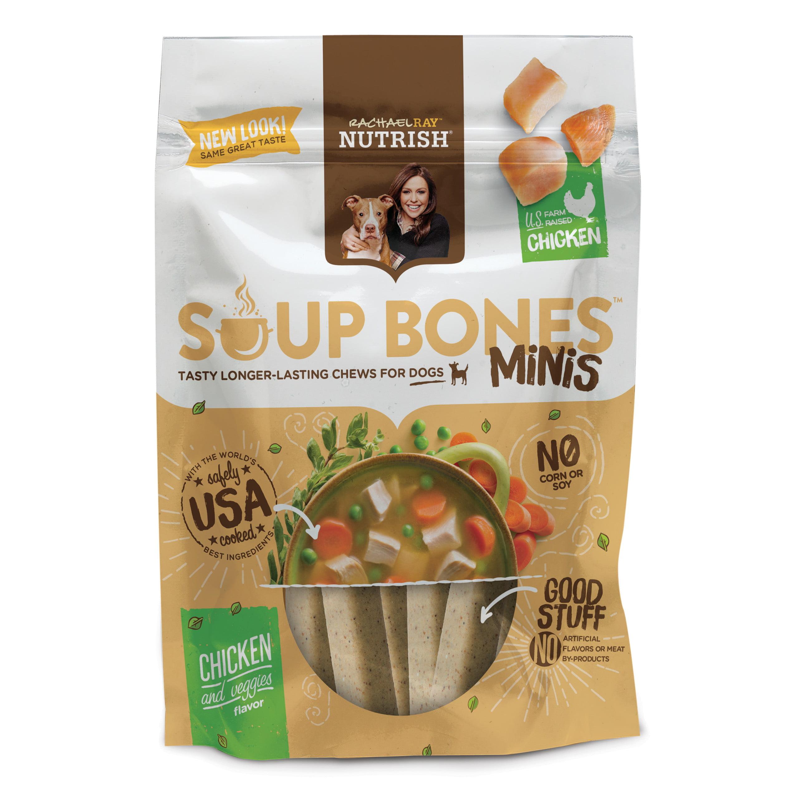 Rachael Ray Nutrish Soup Bones Minis Dog Treats, Chicken & Veggies Flavor, 4.2oz by AINSWORTH PET NUTRITION