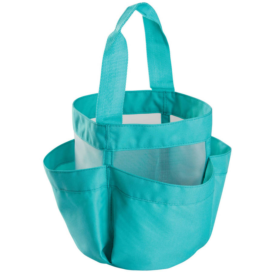 interdesign shower caddy tote canvasmesh mint