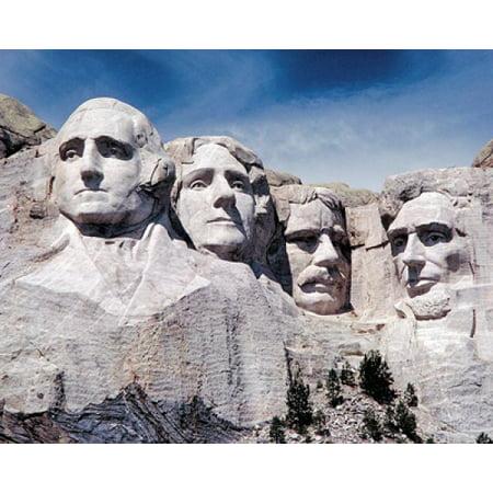 Mount Rushmore Memorial South Dakota Poster Print by McMahan Photo Archive (10 x 8) (Rushmore 10)