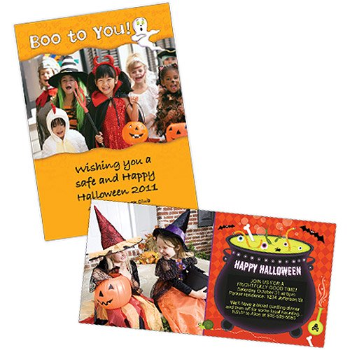 halloween photo greeting cards walmart com