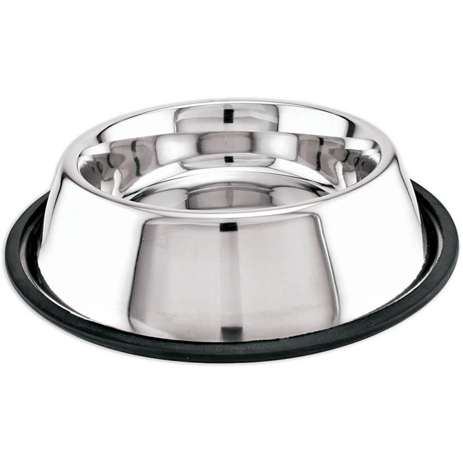 Stainless Steel Non-Skid Dish, 16 oz