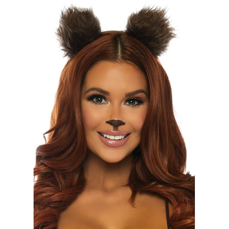 Brown Bear Ears Headband Adult Halloween Accessory - Halloween Band Puns
