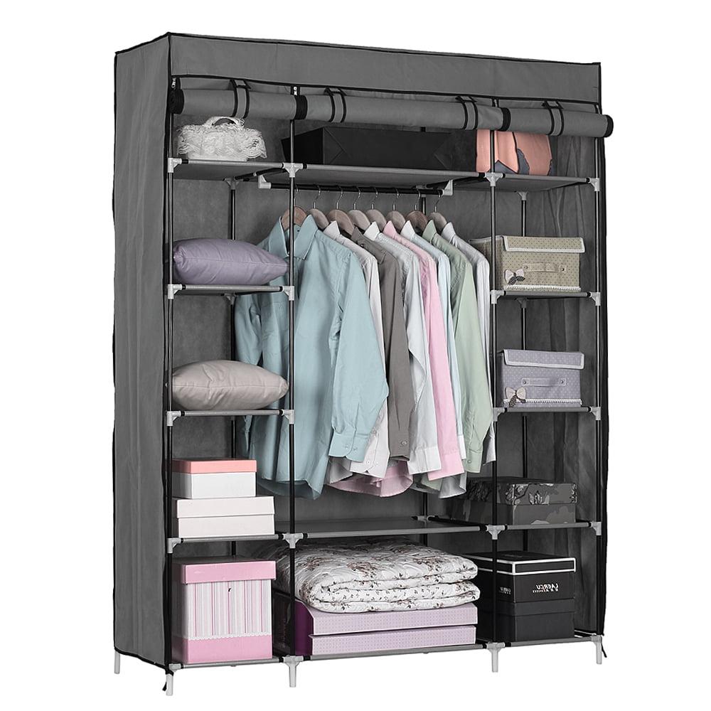 Zimtown Portable Closet Storage Organizer Wardrobe Clothes ...