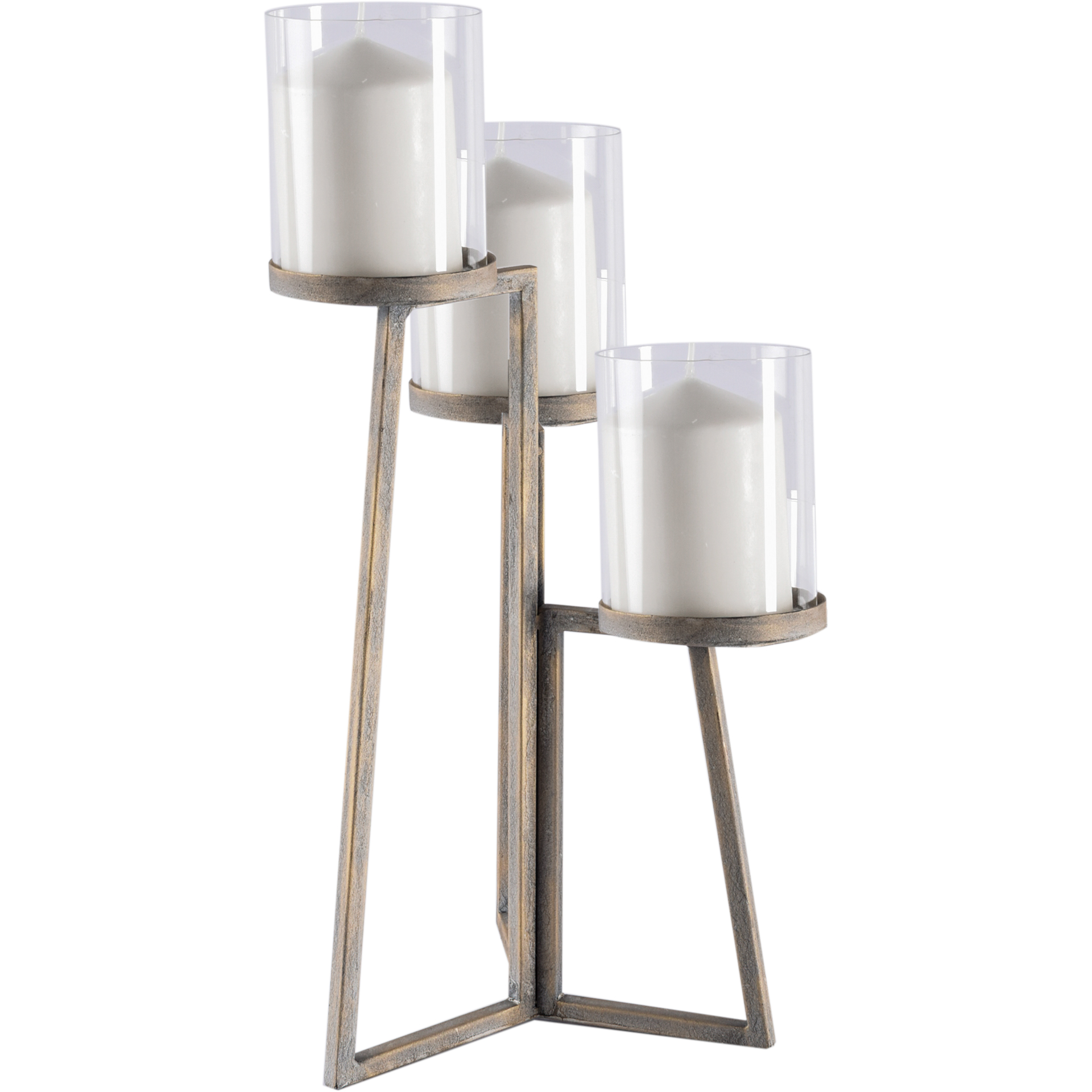 Mercana Modern Candle Holder With Brass Finish 67217 Walmart Com Walmart Com