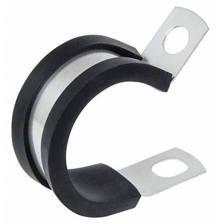 KMC COL0409AL Clamp, Cushioned, EPDM, Dia 1/4 In, PK 50