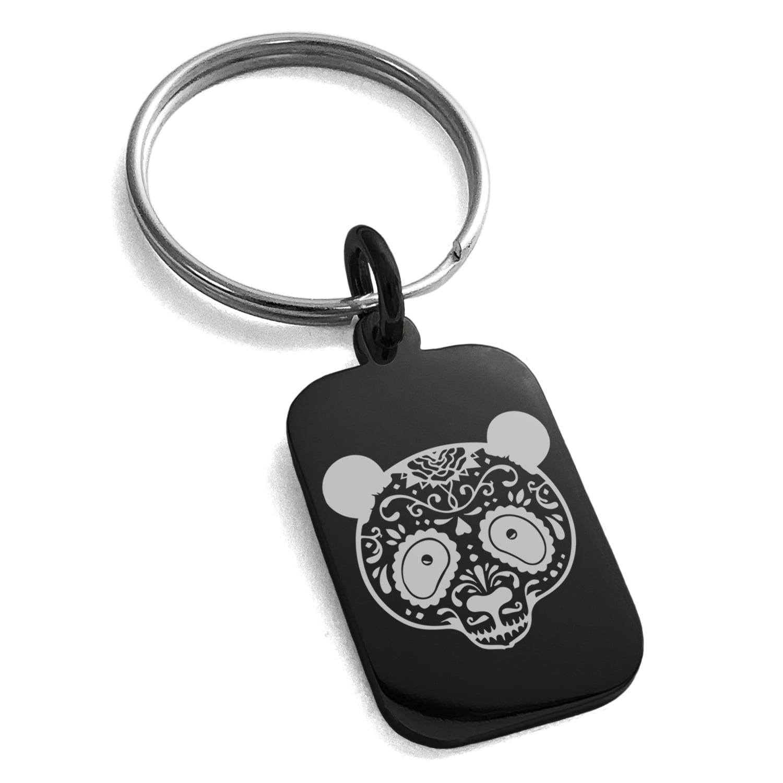 Skull Guitar Pick Necklace Unique Custom Fashion Pet Card Keychain