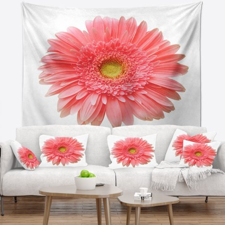 DESIGN ART Designart 'Single Daisy on White Background' Floral Wall