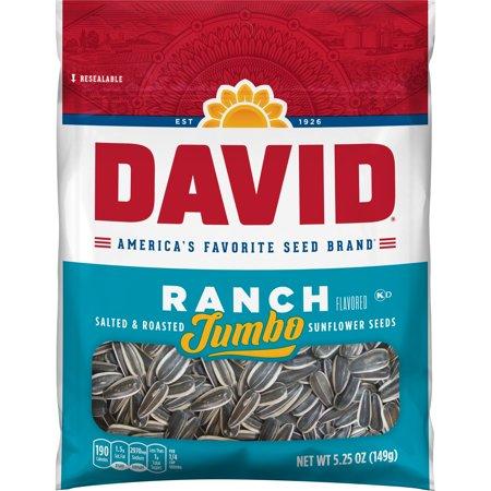 David Jumbo Roasted & Salted Ranch Sunflower Seeds, 5.25 Oz.