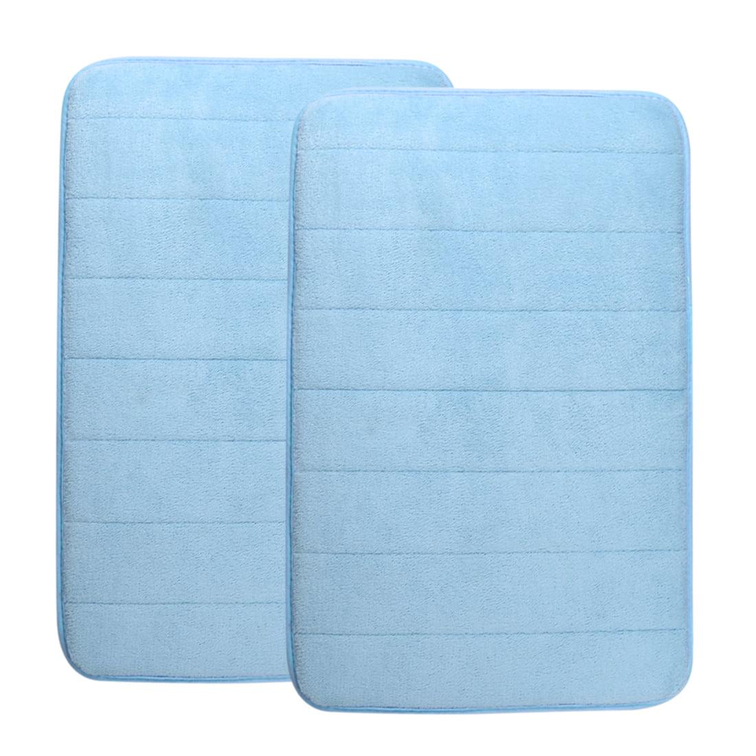 Unique Bargains Memory Foam Bath Rugs 2 Pcs