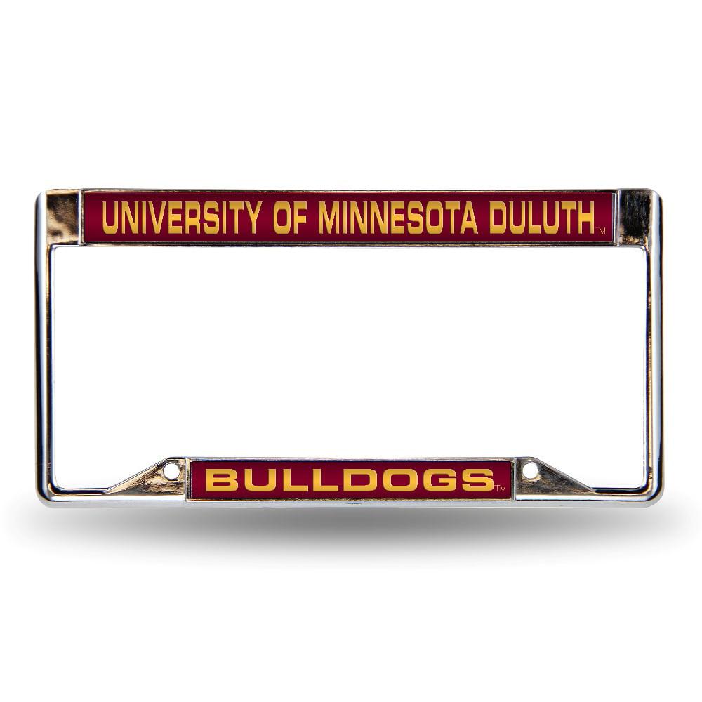 Minnesota Duluth UMD Bulldogs Chrome Metal Laser Cut License Plate Frame