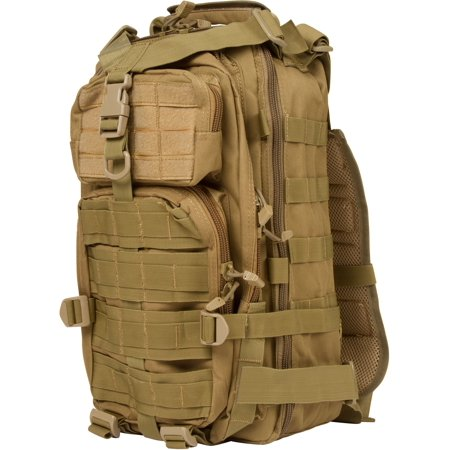 """18.5"""" Tactical Military Style Trekking Backpack and Daypack By Modern Warrior (Tan) thumbnail"""