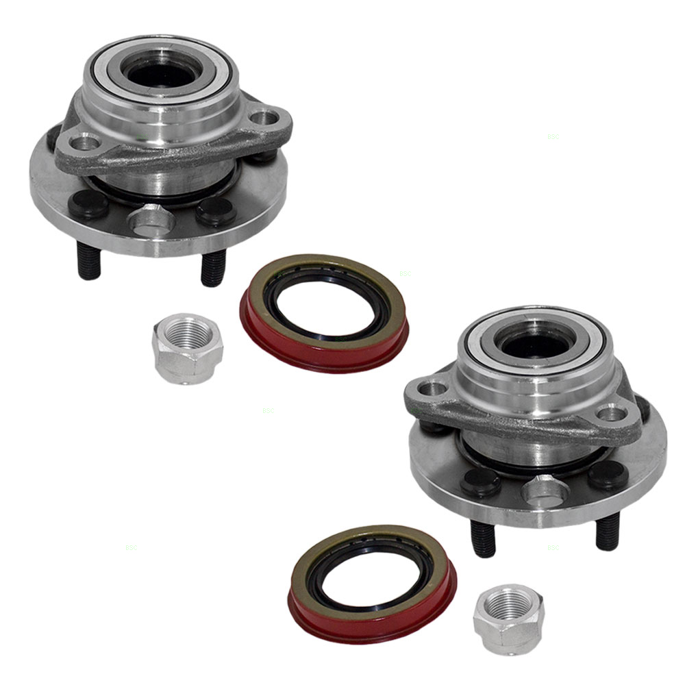 Pair of Front Wheel Hub Bearings Replacement for Chevrolet Buick Cadillac Pontiac Oldsmobile 7470014