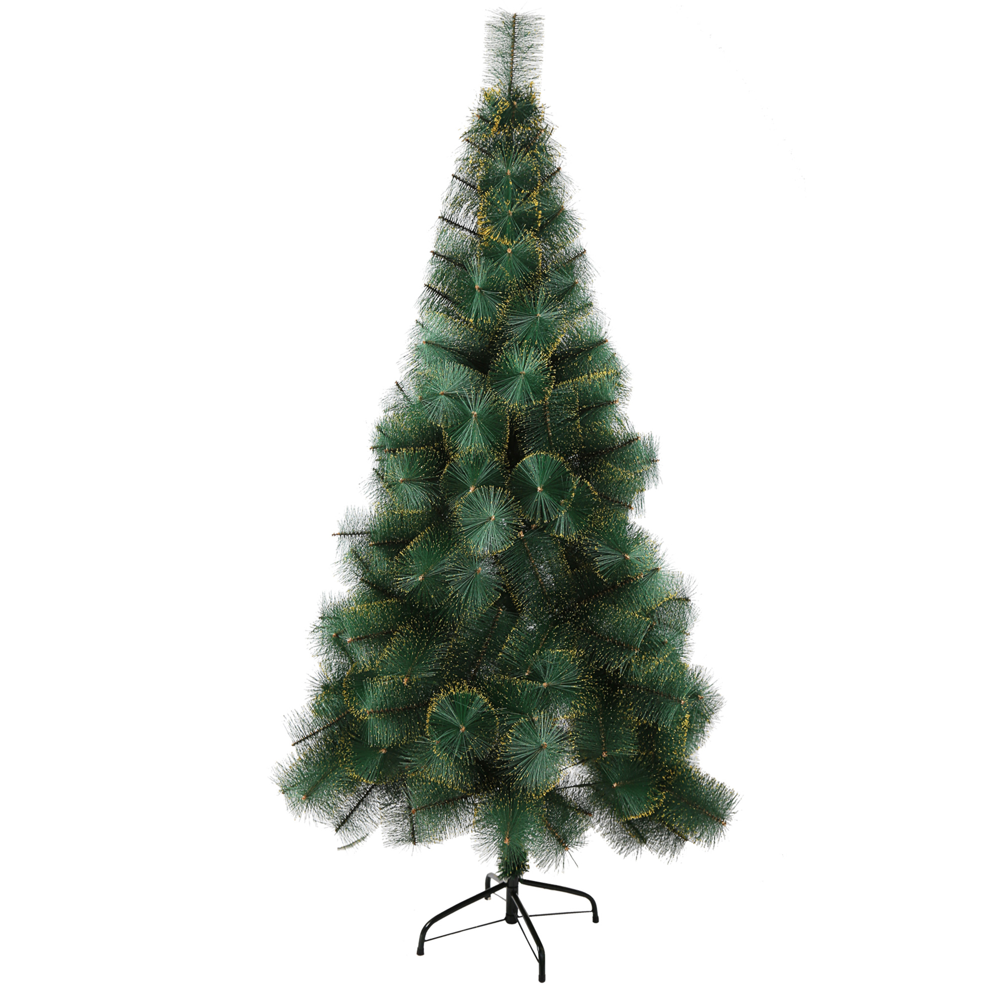 Artificial Christmas Tree Branches.Karmas Product 6 Ft Artificial Christmas Tree Needle 212 Tips Pet Branches With Gold Glitter Metal Tree Stand And Xmas Decorations