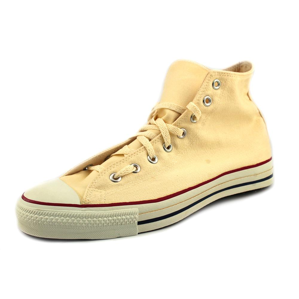 Converse Chuck Taylor All Star Hi Men Round Toe Canvas Ivory Sneakers by Converse