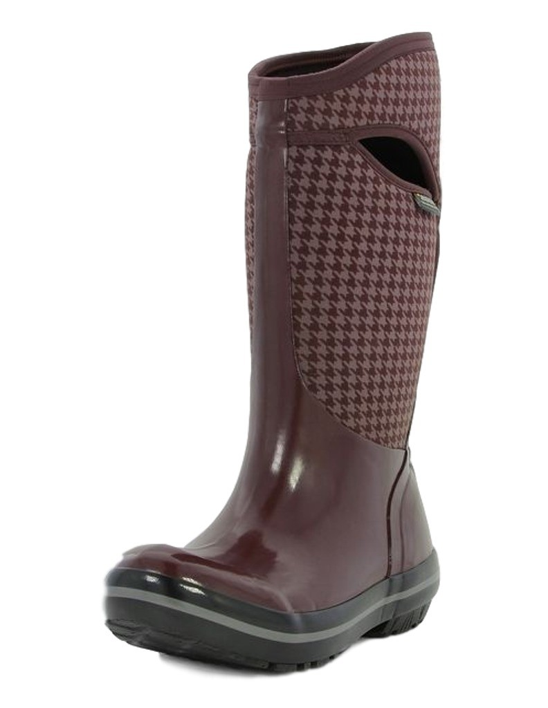 Bogs Boots Womens Plimsoll Houndstooth Pull On Waterproof 72030 by Bogs