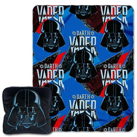 Disney Star Wars Fleet Commander 14 Inch Pillow and 40x50 Fleece Throw Set (Star Wars Fleece)