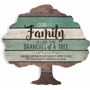 Wall Shape Sign-Tree/Our Family (13 x 12.25)