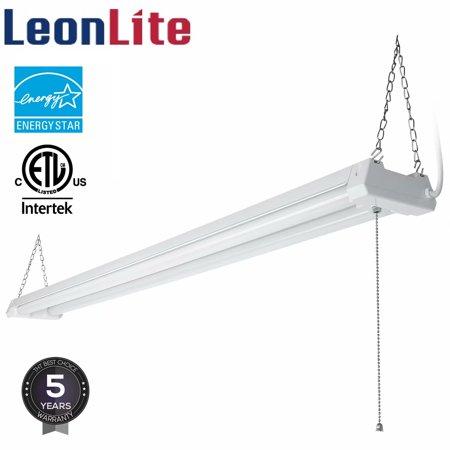LEONLITE 4ft 40W LED Shop Light, 4100 Lumens Shop Lights for Garage, 4000K Cool - Led Shoe Lights