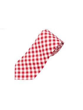 Red Gingham Necktie