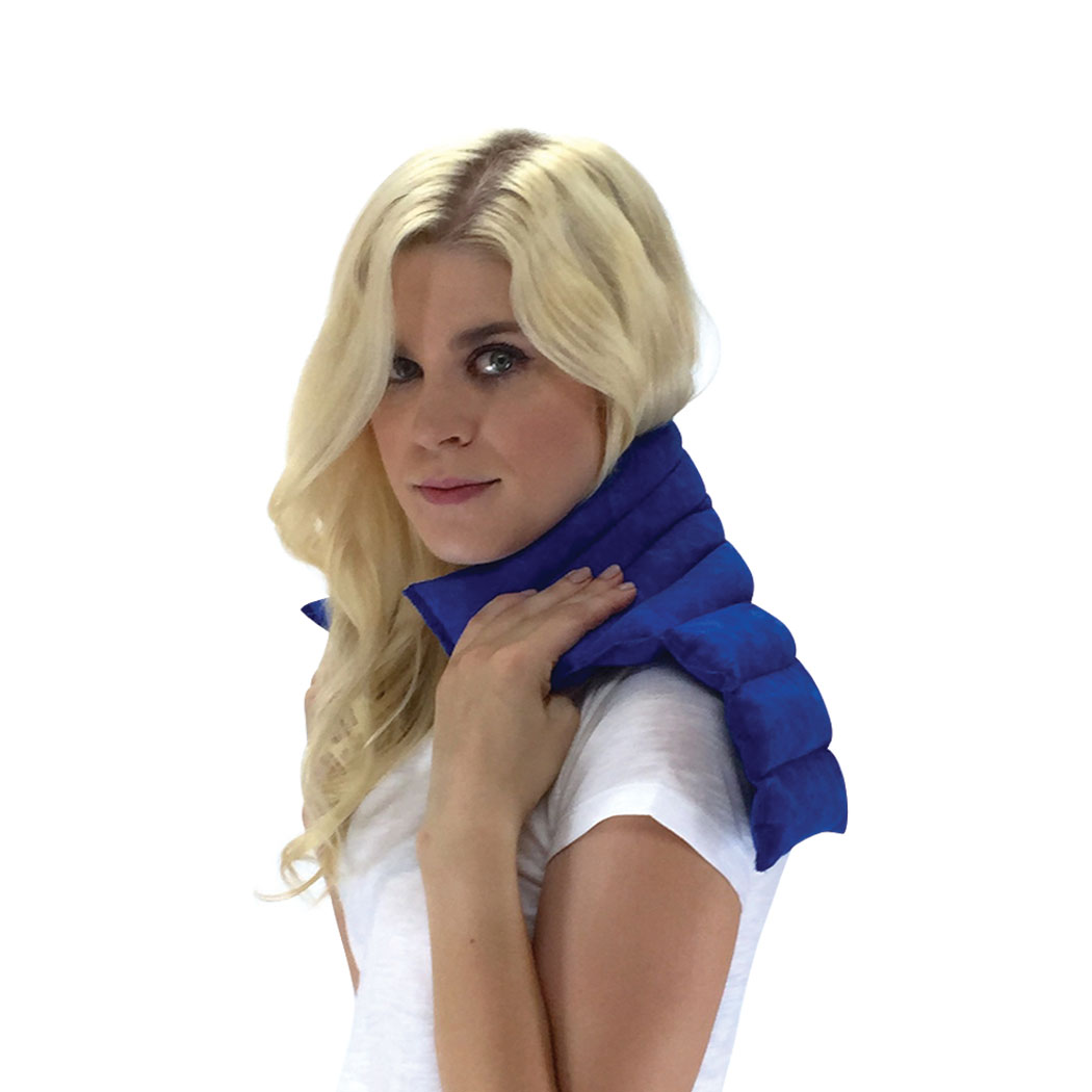 Nature Creation- Neck & Shoulder Wrap - Herbal Heating Pad - Natural Pain & Stress Relief (Blue Marble)