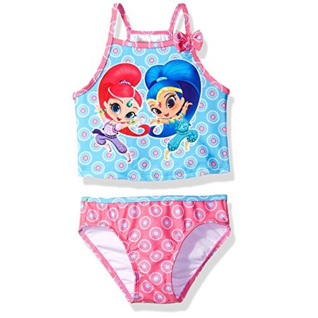 Nickelodeon Toddler Girls' Shimmer and Shine Swimsuit, Hot Pink,