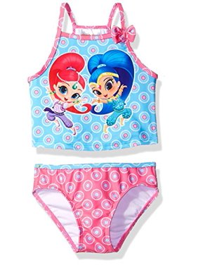 Nickelodeon Toddler Girls' Shimmer and Shine Swimsuit, Hot Pink, 3T