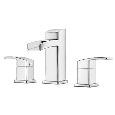 Pfister Kenzo Two Handle Widespread Lavatory Faucet Chrome
