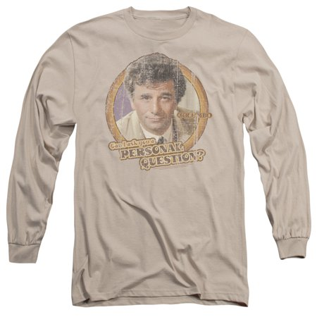 Columbo Detective Mystery TV Film Series Personal Question Adult LSleeve - Halloween Tv And Film Quiz