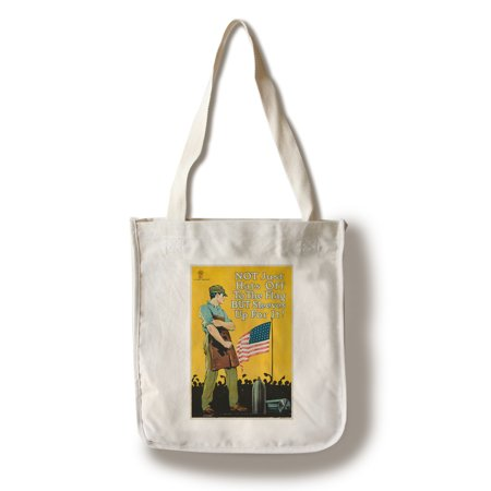 Not Just Hats Off to the Flag Vintage Poster (artist: Palmer, Alfred Herbert) USA c. 1918 (100% Cotton Tote Bag - Reusable)