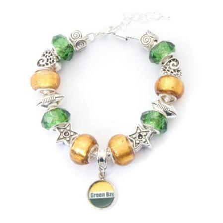 My Favorite Beads 143192PMM212 Green Bay Packers Charm Bracelet - image 1 de 1