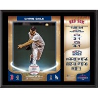 """Chris Sale Boston Red Sox 2018 MLB World Series Champions 12"""" x 15"""" Sublimated Plaque"""