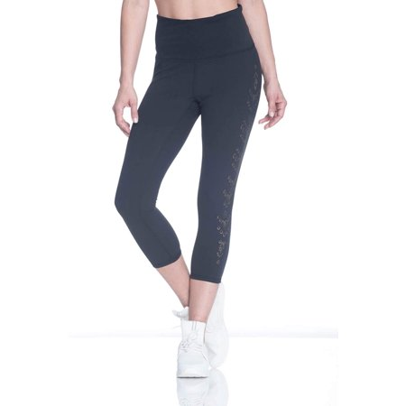 f8d1a89b9008e Gaiam Women's Om High Rise Yoga Capri Performance Spandex Compression  Legging - Black Tap Shoe,