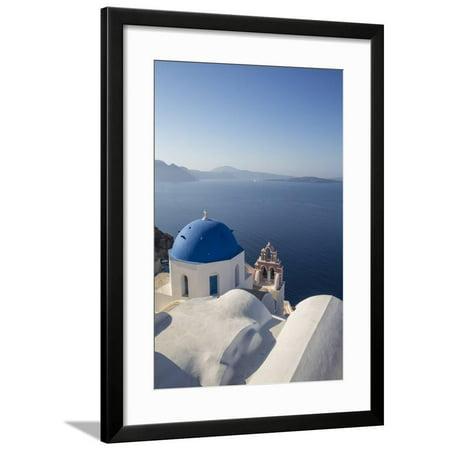 Oia, Santorini (Thira), Cyclades Islands, Greece Framed Print Wall Art By Jon