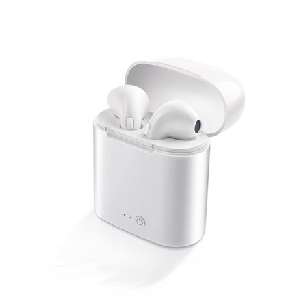 Wireless & Cordless Stereo Bluetooth Mini Headphones / Earbuds / Earphones for iOS & Android + Charging Case (Ip Wireless Headphone)