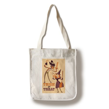 Trick or Treat - Mom & Dad - Retro Halloween - Lantern Press Artwork (100% Cotton Tote Bag - Reusable)](Halloween Tote Bag Craft)