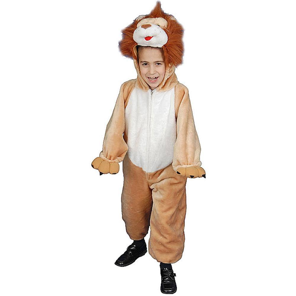 Dress Up America 381-2 Kids Plush Roaring Lion Costume - Size Toddler T2