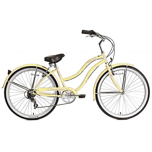 """26"""" Micargi Pantera Women's Beach Cruiser Bike, Vanilla"""
