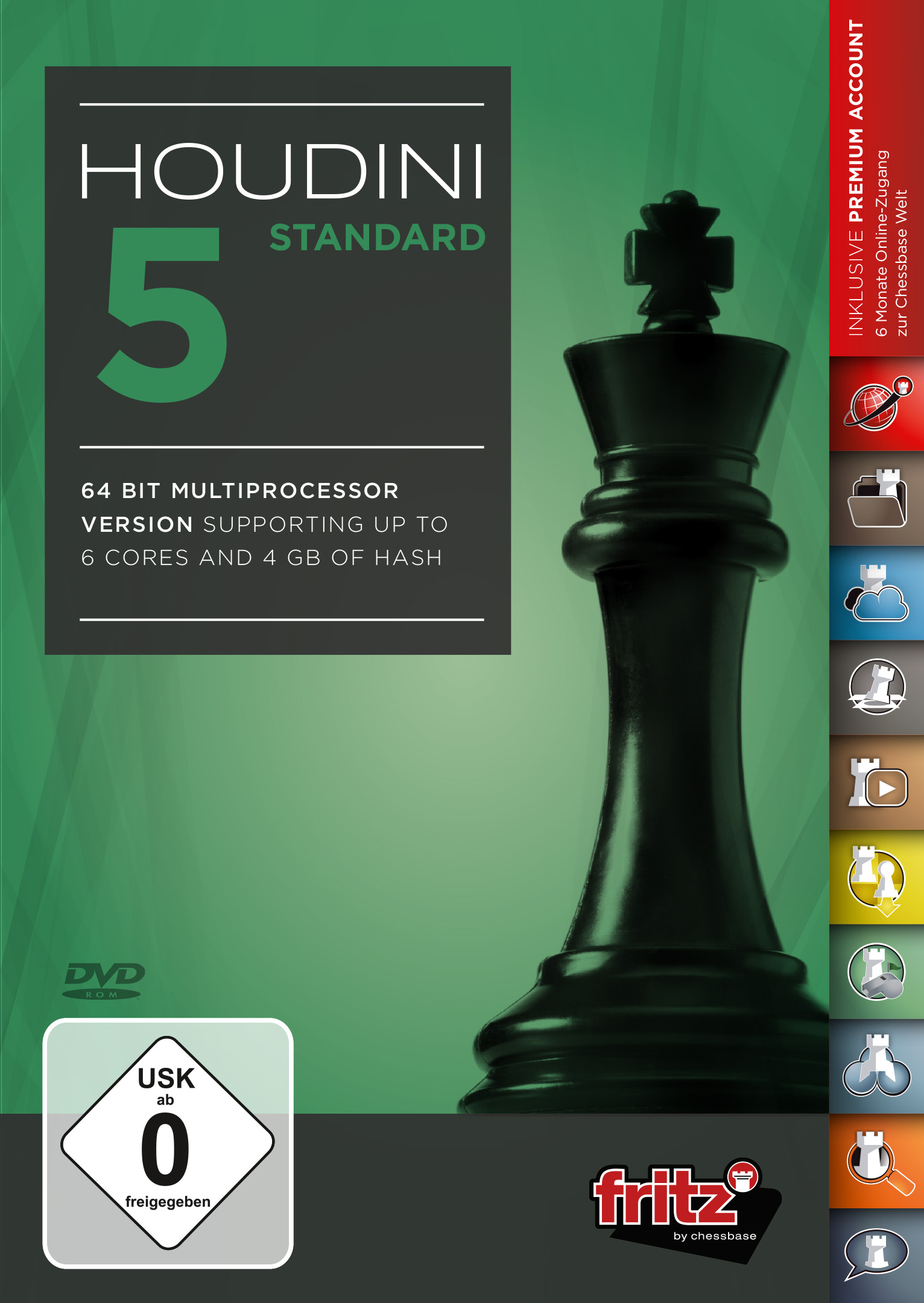 Houdini 5 Chess Playing Software Program STANDARD EDITION by ChessBase