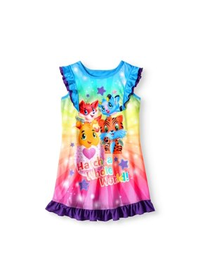 Hatchimals Girls' Ruffle Nightgown