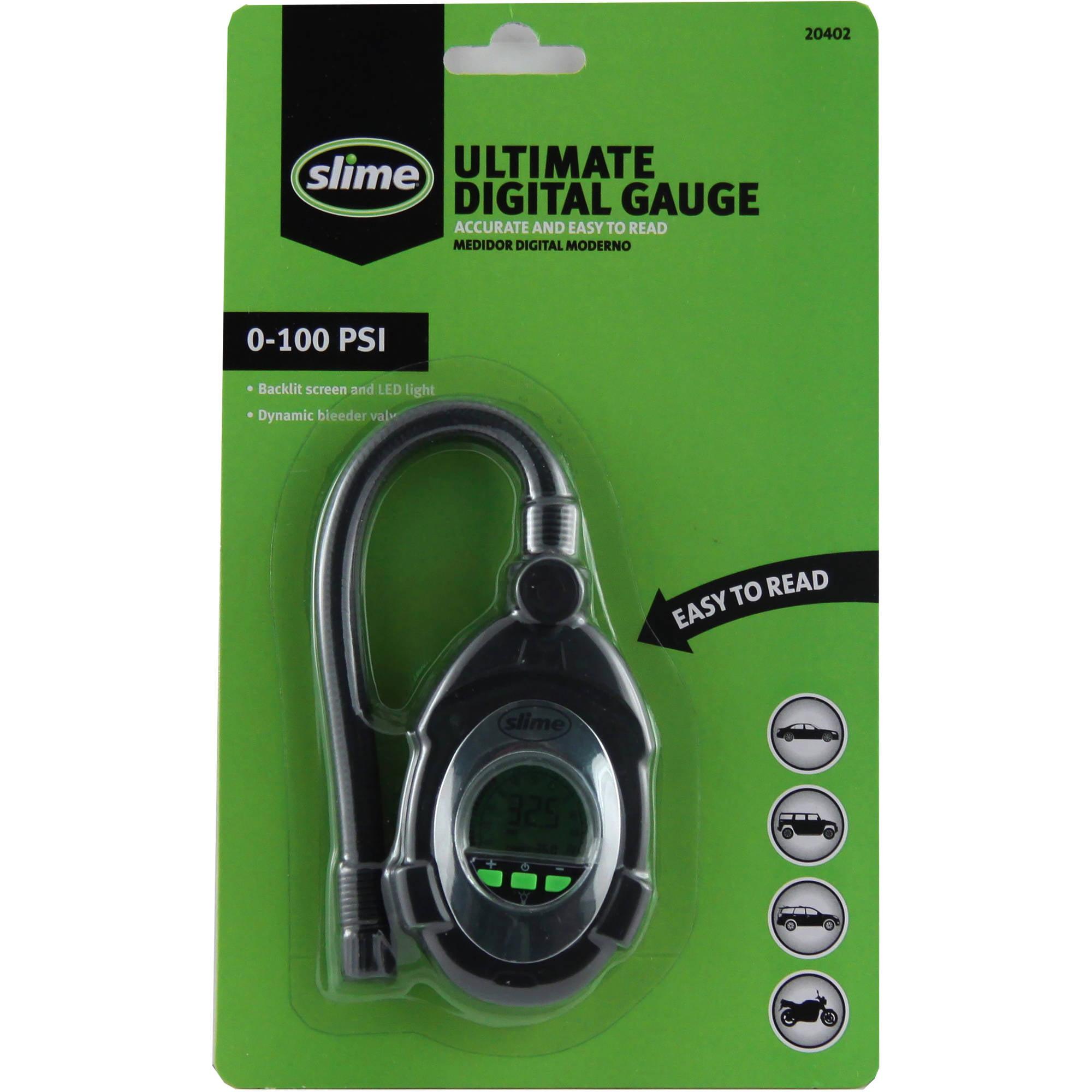 Slime Digital Tire Pressure Gauge 0-100 PSI - 20402