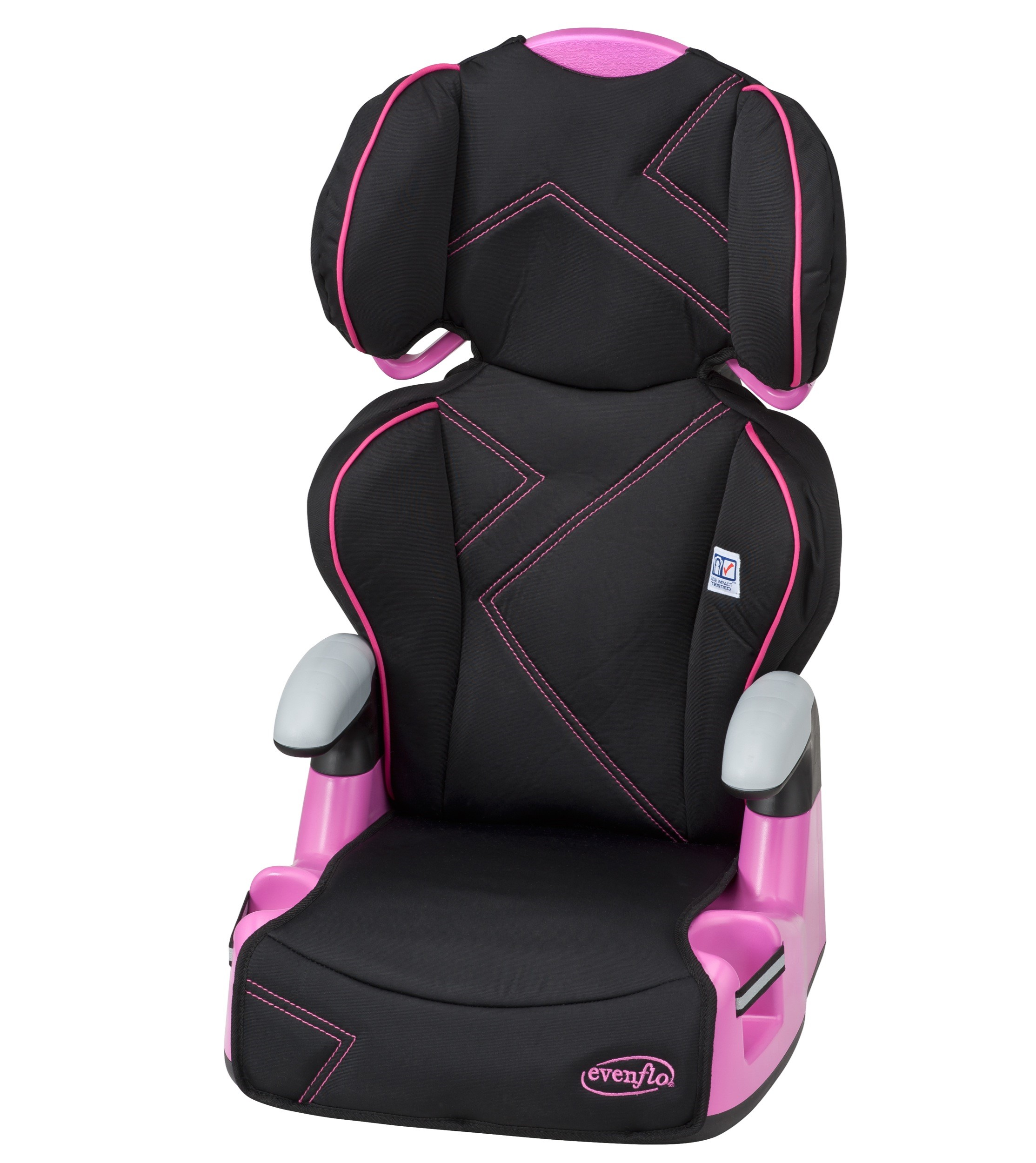 Evenflo AMP Belt-Positioning High Back Booster Car Seat, Pink Angles