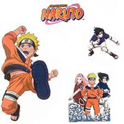 Upper Deck 12440634 Naruto Anime Self-stick Wall Accent Stickers Set