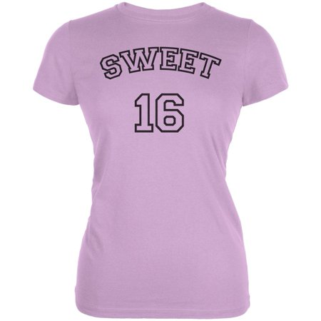 b89aae3df Old Glory - Milestone Birthday Athletic Sweet Sixteen 16 Juniors Soft T  Shirt - Walmart.com