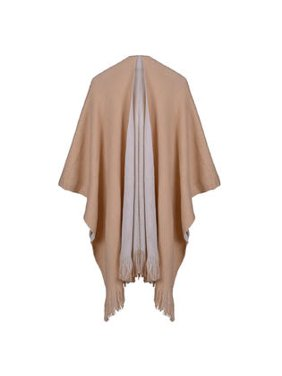 Women Solid Colored Thick Warm Shawl
