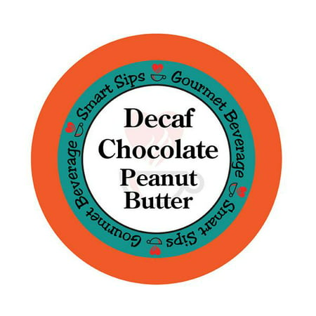 Smart Sips Coffee Decaf Chocolate Peanut Butter Flavored Coffee Single Serve Cups, 24 Count, Compatible With All Keurig K-cup Machines, Decaffeinated Flavored Coffee